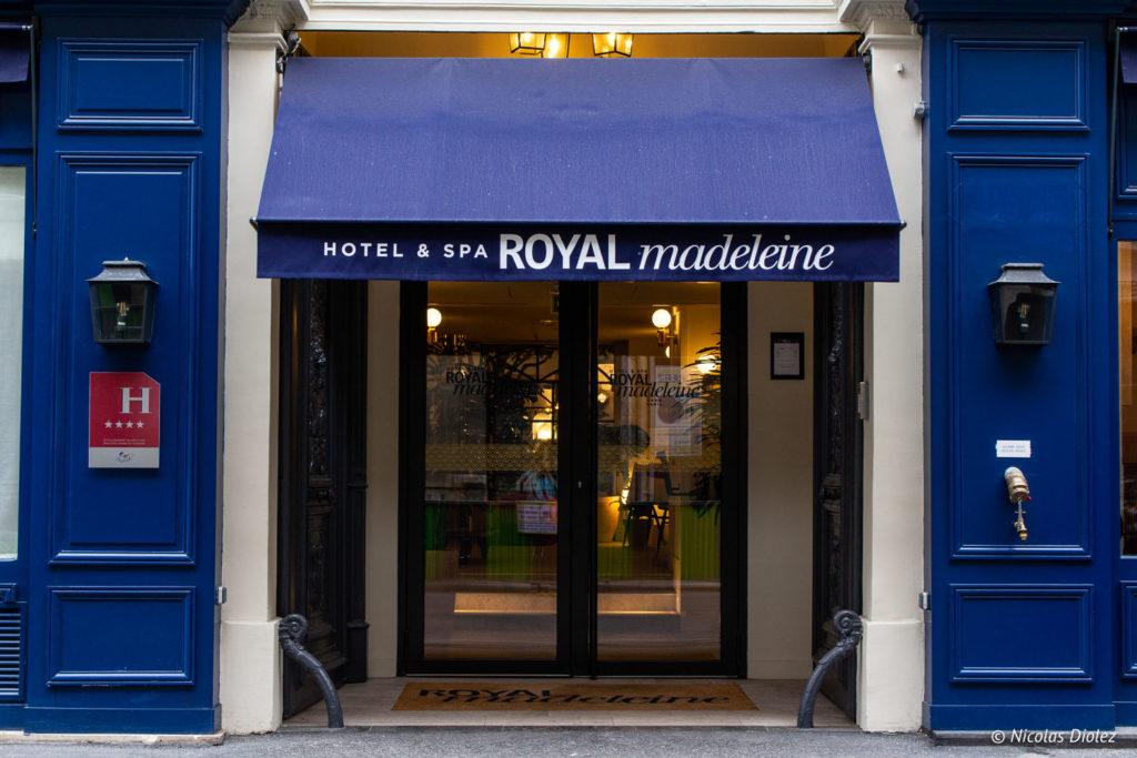 Façade Hôtel Royal Madeleine Paris