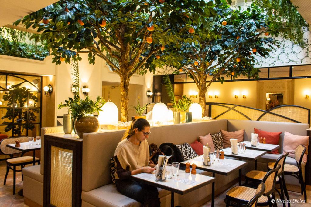 jardin d'hiver Restaurant Royal Hôtel Royal Madeleine Paris