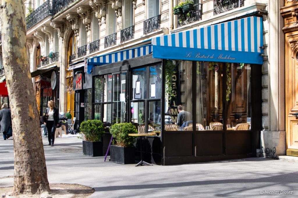 Façade Le Bistrot de Madeleine Paris