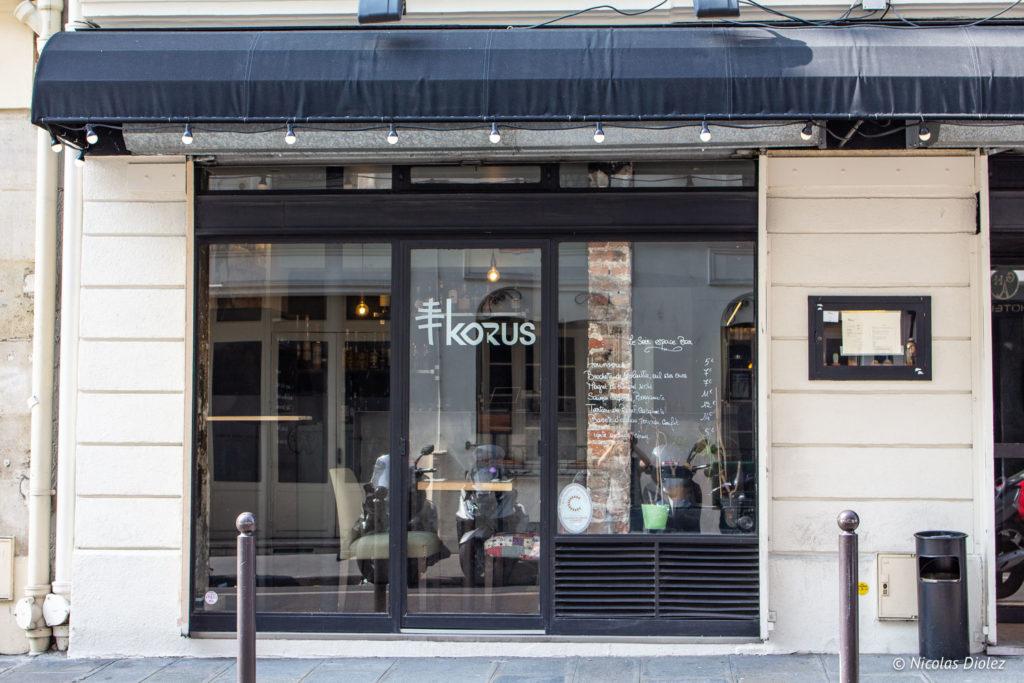 façade restaurant Korus Paris
