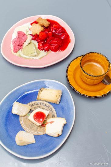 dessert, fromage, café