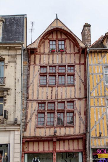 maisons pan de bois