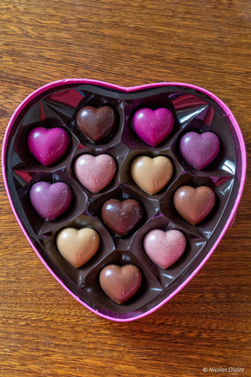 chocolats coeurs
